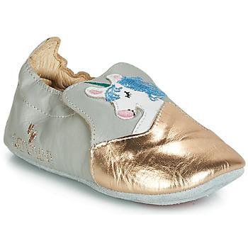 Zapatos Niña Pantuflas Catimini LICORNETTE Gris / Oro