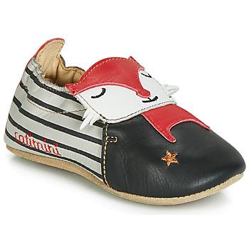 Zapatos Niño Pantuflas Catimini RENARDOU Negro / Gris / Rojo