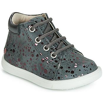 Zapatos Niña Zapatillas altas GBB NICKY Vte / Gris - lunares / Rosa / Dpf / Messi