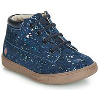 Zapatos Niña Zapatillas altas GBB NINON Vte / Marino - lunares / Dpf / Messi