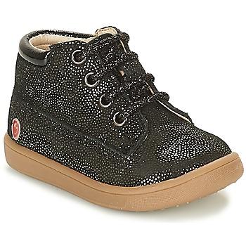 Zapatos Niña Botas de caña baja GBB NINON Negro / Brillantina
