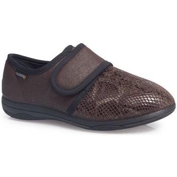 Zapatos Mujer Mocasín Calzamedi Zapatillas  Señora Extra s W MARRON