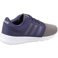 Zapatos Mujer Zapatillas bajas adidas Originals CF QT Racer W Negro-Blanco-Azul