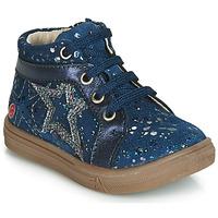 Zapatos Niña Zapatillas altas GBB NAVETTE Vte / Marino - lunares / Dpf / Dolby