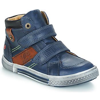 Zapatos Niño Botas de caña baja GBB RENDALL Marino / Marrón