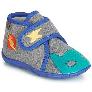 Zapatos Niño Pantuflas GBB SUPER DOUDOU Ttx / Gris azul / Dtx / Amis
