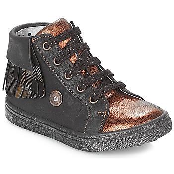 Zapatos Niña Zapatillas altas Catimini LOULOU Negro / Cobre