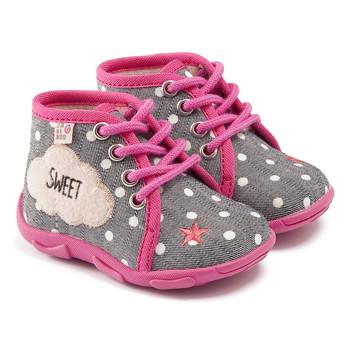 Zapatos Niña Pantuflas GBB BUBBLE Ttx / Gris- rosa / Dtx / Amis