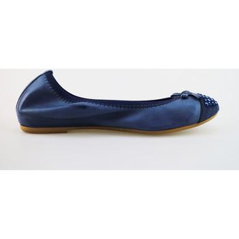 Zapatos Mujer Bailarinas-manoletinas Cruz bailarinas azul cuero gamuza AG314 azul