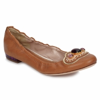 Zapatos Mujer Bailarinas-manoletinas Sebastian AMARILLI Camel