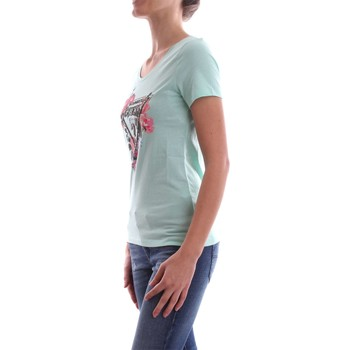 Guess W82I06 JA900 SS RN ROSES T-SHIRT Mujer Verde Verde