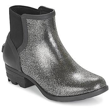 Zapatos Mujer Botas de caña baja Sorel JANEY™ CHELSEA Negro / Plateado