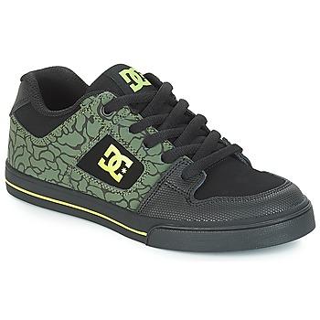 Zapatos Niños Zapatillas bajas DC Shoes PURE SE B SHOE BK9 Negro / Verde