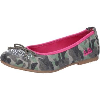 Zapatos Niña Bailarinas-manoletinas Lulu bailarinas verde lona AG640 verde