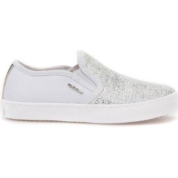 Zapatos Niños Slip on Geox JR Kilwi Girl Blanco,Plateado