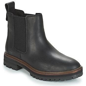 Zapatos Mujer Botas de caña baja Timberland London Square Chelsea Negro