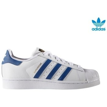 Zapatos Niña Zapatillas bajas adidas Originals SUPERSTAR FOUNDATION J BLANCO/AZUL 1