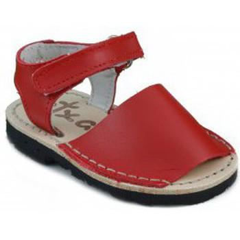 Zapatos Niños Sandalias Arantxa MENORQUINAS HECHA A MANO NIÑOS ROJO