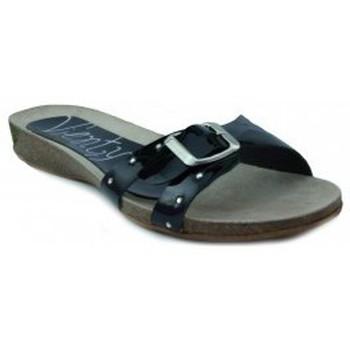 Zapatos Mujer Sandalias Vienty BIO PLANO CHAROL NEGRO