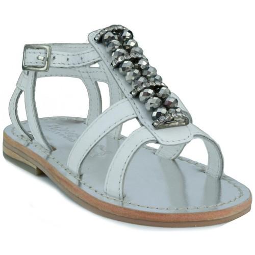 Zapatos Niños Sandalias Oca Loca OCA LOCA  STRASS BLANCO