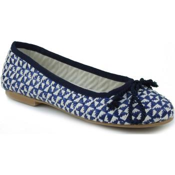 Zapatos Mujer Bailarinas-manoletinas Oca Loca OCA LOCA RAFIA AZUL