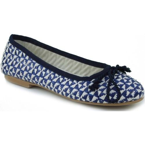 Zapatos Mujer Bailarinas-manoletinas Oca Loca OCA LOCA NIÑA RAFIA AZUL