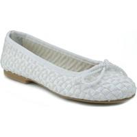 Zapatos Mujer Bailarinas-manoletinas Oca Loca OCA LOCA RAFIA BLANCO