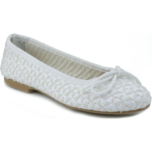 Zapatos Mujer Bailarinas-manoletinas Oca Loca OCA LOCA NIÑA RAFIA BLANCO
