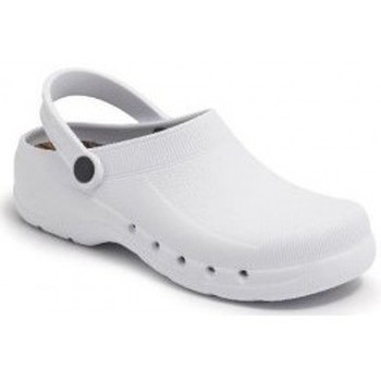 Zapatos Zuecos (Mules) Calzamedi ZUECO SANITARIO PVC COMODO Y ANATOMICO UNISEX BLANCO