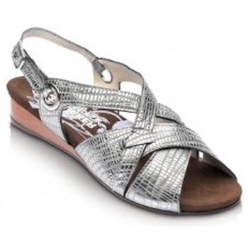 Zapatos Mujer Sandalias Drucker Calzapedic SANDALIA COMODA PLATA