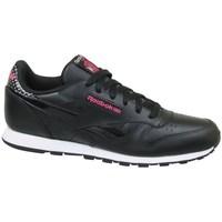 Zapatos Niños Zapatillas bajas Reebok Sport CL Leather Girl Squad Negro