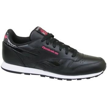 Zapatos Niños Zapatillas bajas Reebok Sport CL Leather Girl Squad Negros