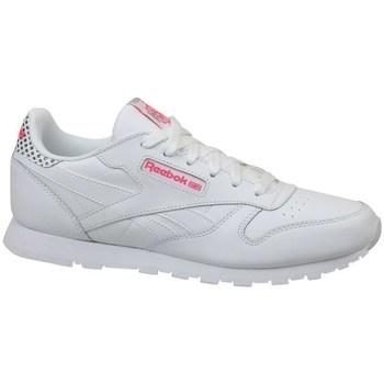 Zapatos Niños Zapatillas bajas Reebok Sport CL Leather Girl Squad Blanco