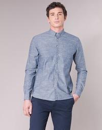 textil Hombre camisas manga larga Casual Attitude IPODRUM Azul