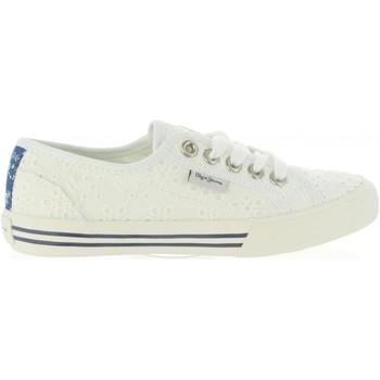Zapatos Niña Zapatillas bajas Pepe jeans PGS30261 BAKER Blanco