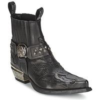 Zapatos Mujer Botas de caña baja New Rock PRETO Negro