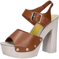 Zapatos Mujer Sandalias Suky Brand sandalias marrón cuero AC482 marrón