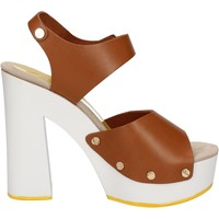 Zapatos Mujer Sandalias Suky Brand sandalias marrón cuero AC483 marrón