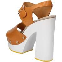 Zapatos Mujer Sandalias Suky Brand sandalias marrón cuero AC485 marrón