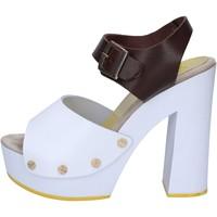 Zapatos Mujer Sandalias Suky Brand sandalias marrón cuero blanco AC486 marrón