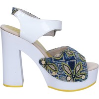 Zapatos Mujer Sandalias Suky Brand sandalias blanco textil azul charol AC487 blanco