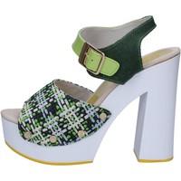 Zapatos Mujer Sandalias Suky Brand sandalias verde textil charol AC489 verde