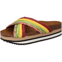 Zapatos Mujer Chanclas 5 Pro Ject sandalias verde textil amarillo AC589 multicolor
