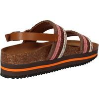 Zapatos Mujer Sandalias 5 Pro Ject sandalias rosado textil marrón AC592 rosado