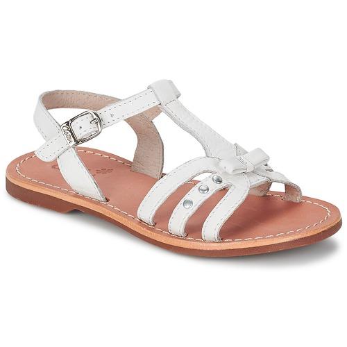 Zapatos Niña Sandalias Aster VALENTINA Blanco