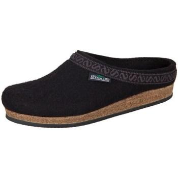 Zapatos Mujer Pantuflas Stegmann Black Wollfilz Negros