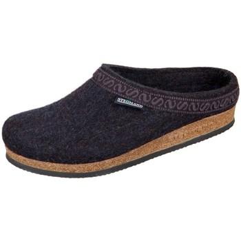 Zapatos Mujer Pantuflas Stegmann Graphit Wollfilz Negro