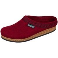 Zapatos Mujer Pantuflas Stegmann Firebrick Wollfilz Rojo burdeos