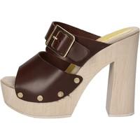 Zapatos Mujer Sandalias Suky Brand sandalias marrón cuero AC764 marrón