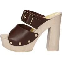 Zapatos Mujer Sandalias Suky Brand sandalias marrón cuero AC765 marrón